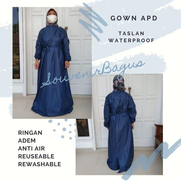 Gown APD Medis Perawat Klinik Waterproof anti air taslan