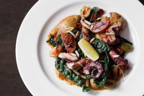 biffs bistro octopus chorizo salad