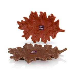 Life At Home Porcelain Leaf Side Plates - $7