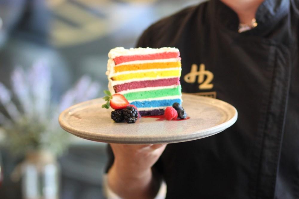 H2 Rotisserie rainbowcake
