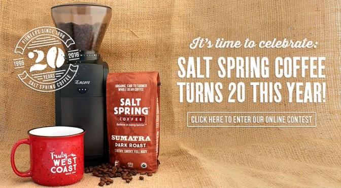 #Giveaway $200+ Coffee Grinder  – Salt Spring Coffee Turning Twenty #ssc20years