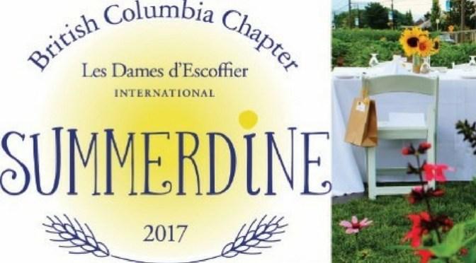 Les Dames d'Escoffier Present Summerdine – August 16th