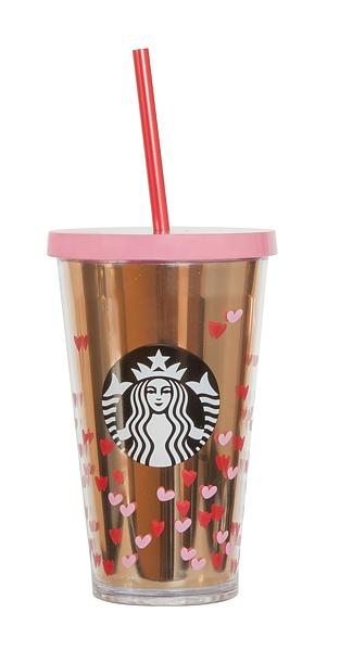 valentine's acrylic cold cup