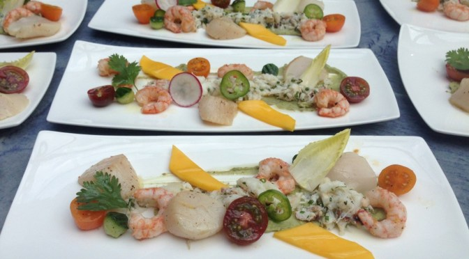 Chilled Summer Seafood Plate from Chef Dino Renaerts