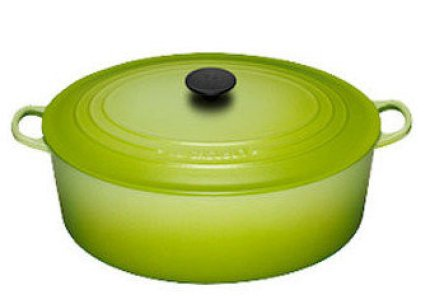 le creuset oval french oven kiwi
