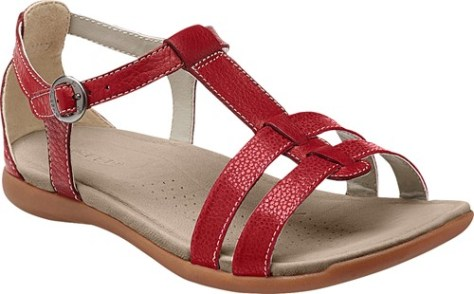 rose city t strap red dahlia 3q
