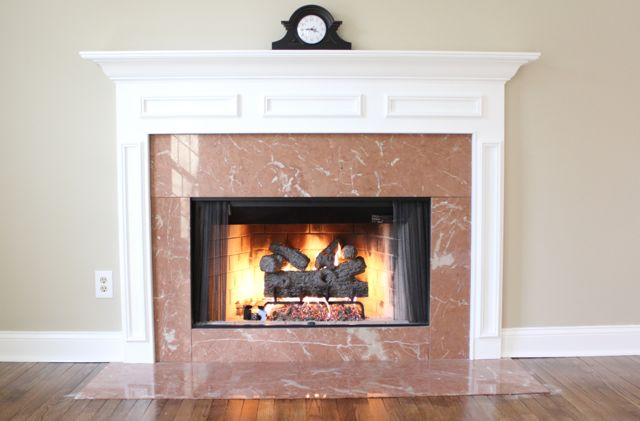 Fireplace With White Mantle Goodman Carpentry