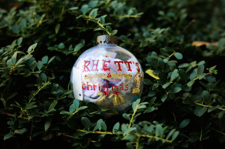 Baby's first ornament craft diy momento