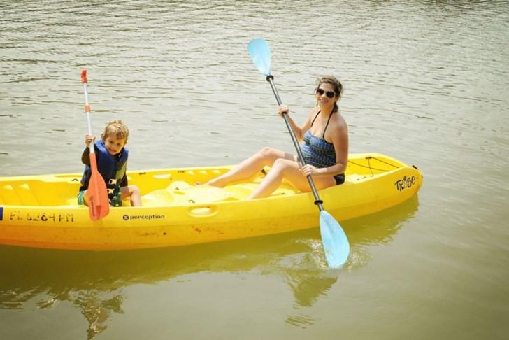 Kayaking-Pregnant