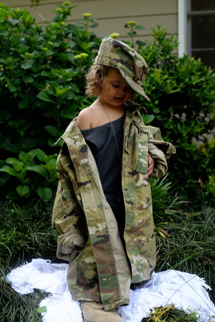 Army kids in dads uniform (5)