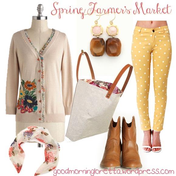 Farmers Market Outfit Board