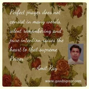 Prayer GoodNGreat Quotes Amit Ray
