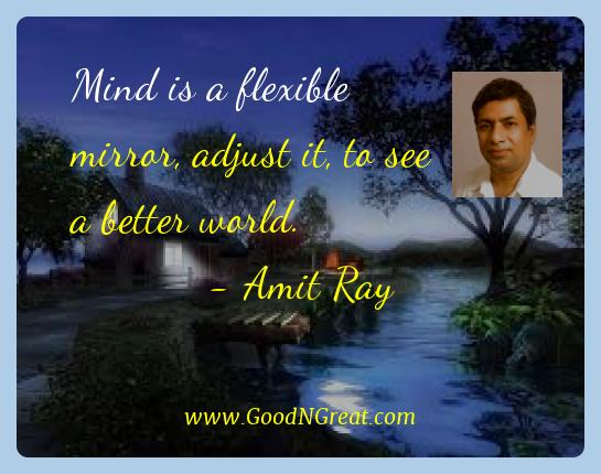 Amit Ray Best Quotes  - Mind is a flexible mirror, adjust it, to see a better