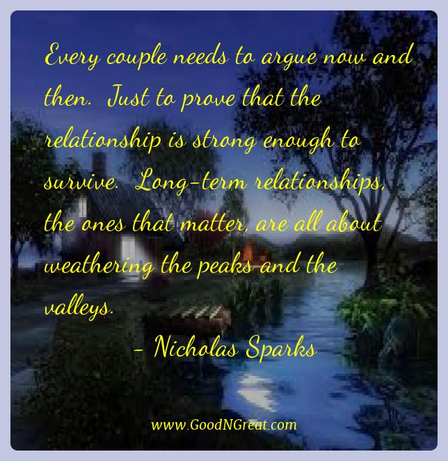Nicholas Sparks Best Quotes  - Every couple needs to argue now and then.  Just to prove
