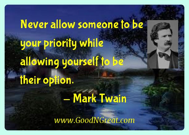 Never allow someone to be your priority while allowing