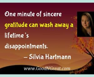 Silvia Hartmann Gratitude Quotes