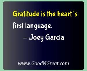 Joey Garcia Gratitude Quotes
