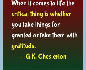 G.K. Chesterton Gratitude Quotes