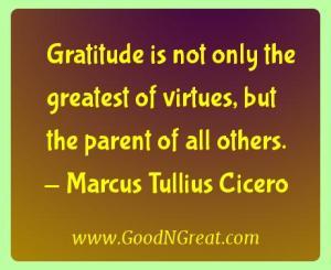 Marcus Tullius Cicero Gratitude Quotes