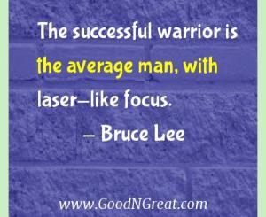 Bruce Lee Success Quotes