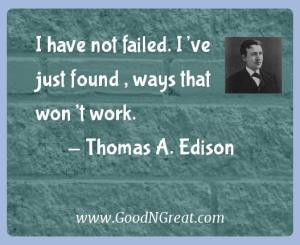 Thomas A. Edison Success Quotes