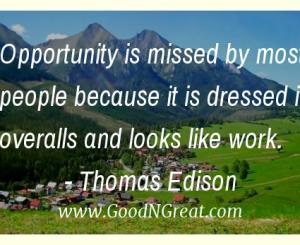 Thomas Edison Workplace Quotes