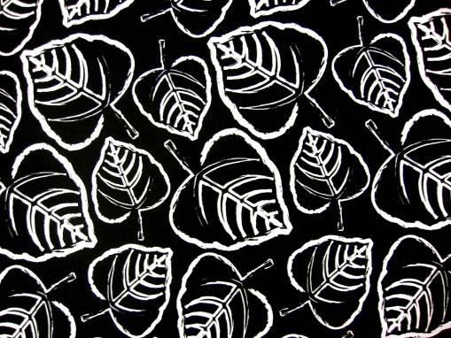 Black Leaves Futon Cover