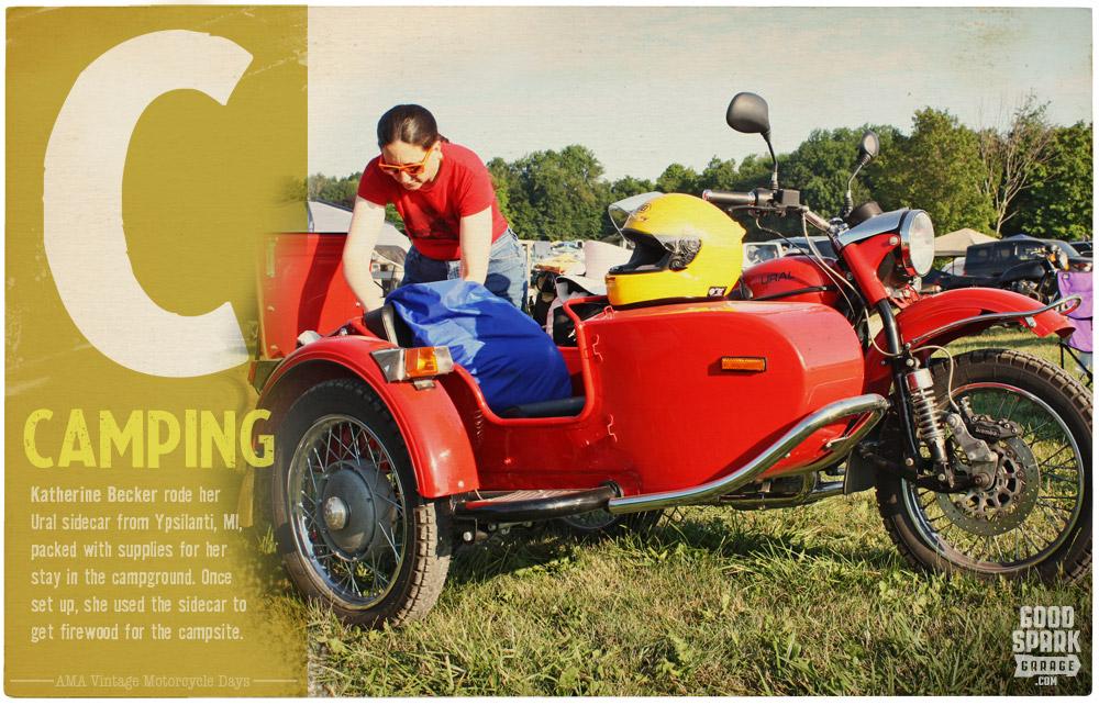 AMA Vintage Motorcycle Days Camping