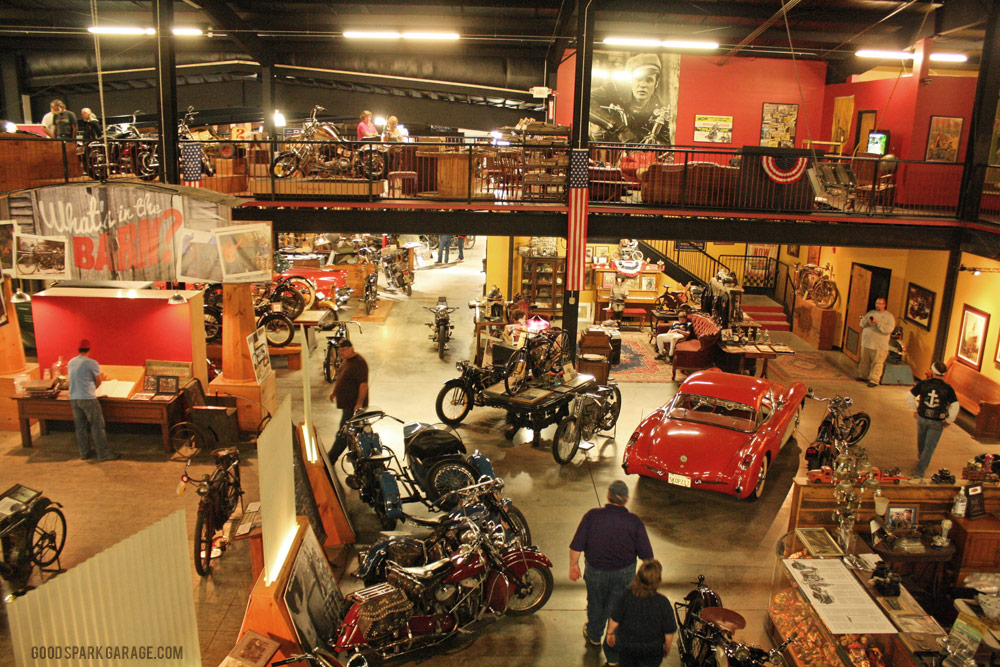 Wheels through time vintage motorcycle museum for American classics garage