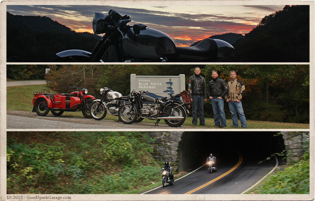 Deals Gap Motorcycle Triptych