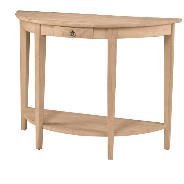 Half moon console table 42 1 2 for Half moon console table