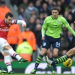Cazorla double keeps Arsenal in race for fourth place