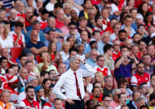 "Britain Football Soccer - Arsenal v Liverpool - Premier League - Emirates Stadium - 14/8/16 Arsenal manager Arsene Wenger looks dejected Reuters / Eddie Keogh Livepic EDITORIAL USE ONLY. No use with unauthorized audio, video, data, fixture lists, club/league logos or ""live"" services. Online in-match use limited to 45 images, no video emulation. No use in betting, games or single club/league/player publications.  Please contact your account representative for further details."