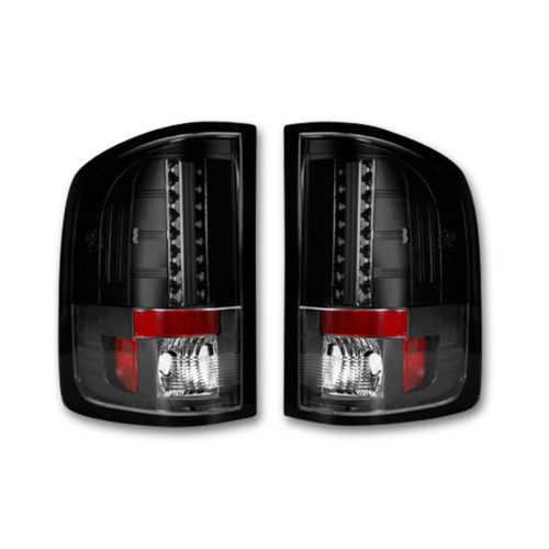 LED Tail Lights   RECON Truck Accessories Part   264189BK     SMOKED LED Tail Lights 07 13 GMC SIERRA 1500 2500 3500  Single Wheel ONLY