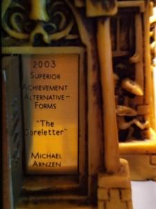 Bram Stoker Award for The Goreletter