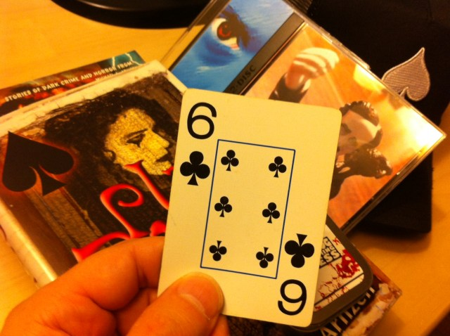 Winning Card is the 6 of clubs