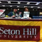 Peeler & Hinesly at SHU table