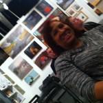K. Ceres Wright enjoys the show.