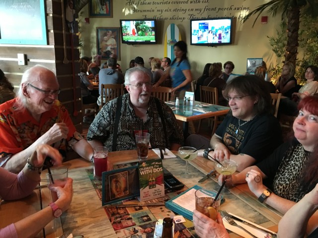 Lunch with Bill Nolan, Steve Tem, Jason Brock...and everyone else not pictured here...at Margaritaville.  It was fun until it was too much fun.