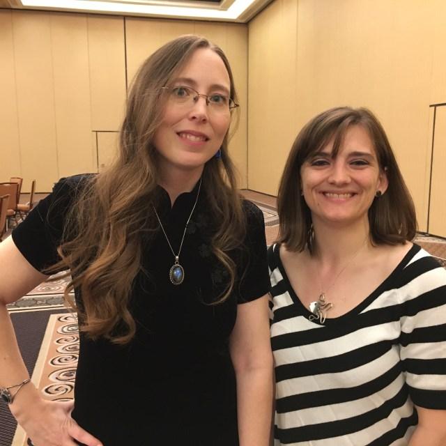 Publisher Jennifer Barnes and future Raw Dog Screaming writer Kristin Dearborn.