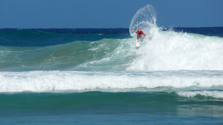 Evan Geiselman in the Rip Curl Pro Puerto Rico 2013 Jobos Beach