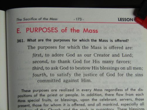 Purposes Of The Roman Catholic Mass