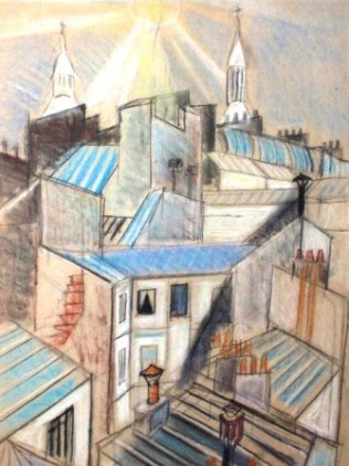Николас Иссаев. Крыши Парижа. 1957