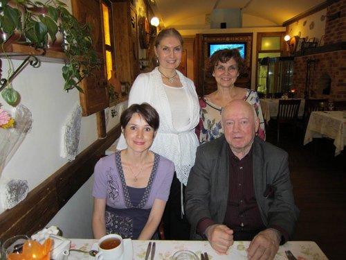 Борис Мессерер, Наталья Лайдинен, Ирина Егорова и Вера Зубарева