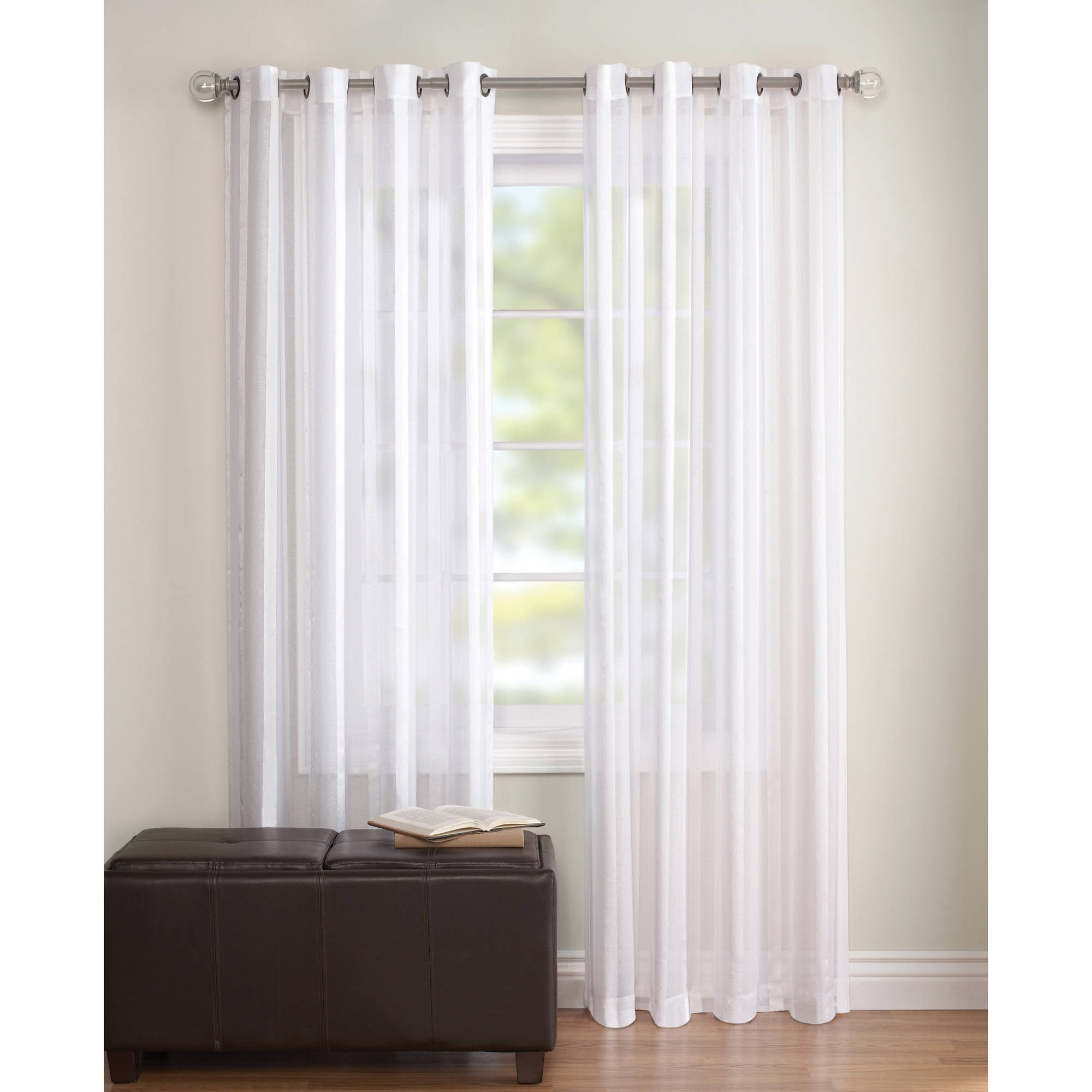 Salient Better Homes Silver G Sheer Curtains Gardens Embroidered Sheer Curtain Panel Walmart Inside Sheer Cotton Curtains Sheer Cotton Curtains Curtain Ideas Sheer Curtains houzz-02 White Sheer Curtains
