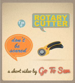 How to use a rotary cutter (a short video)