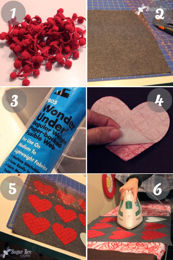 valentine heart pillow tutorial