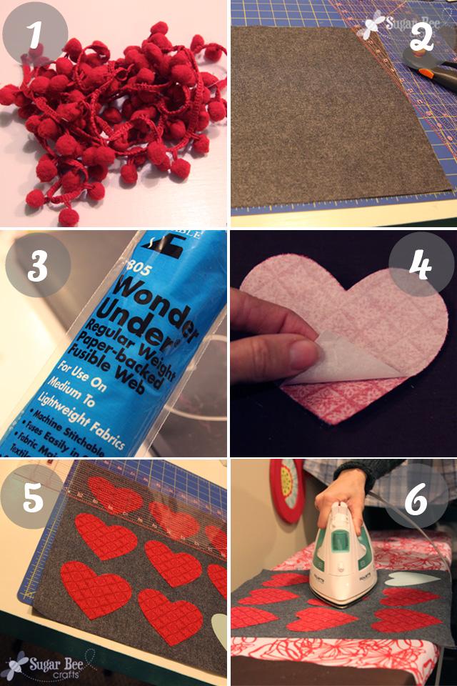 valentine heart pillow tutorial