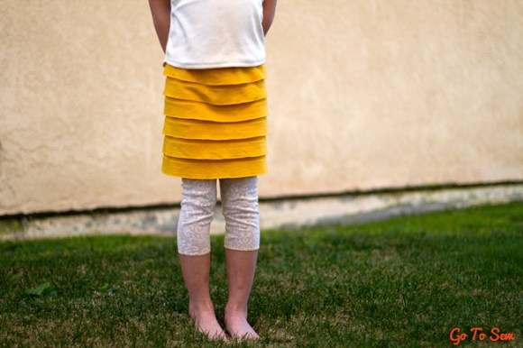 Easy Ruffle Skirt with attached leggings tutorial