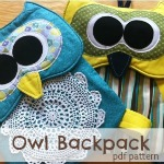 Owl Backpack sewing pattern